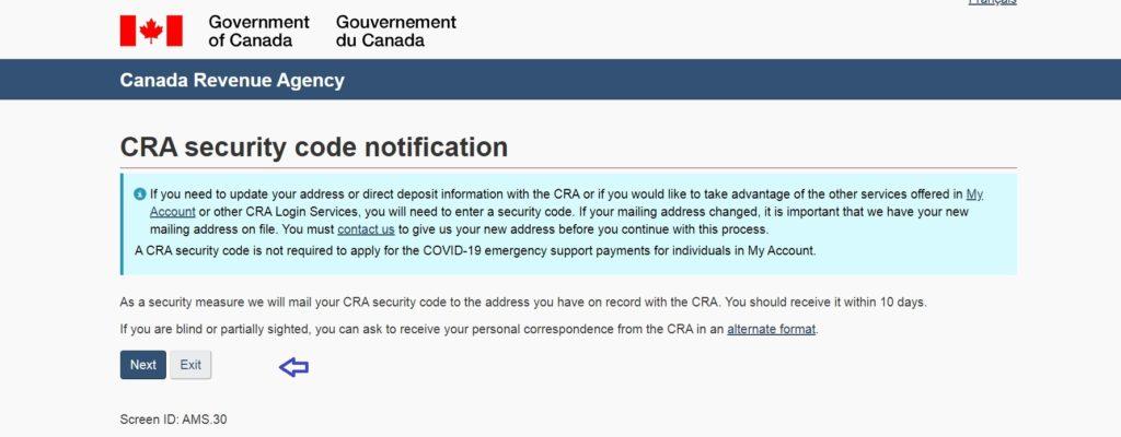 CRA Access Code